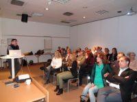 Bild från en föreläsning på Södertälje Käkkirurgiska Centrums 1 års jubileum