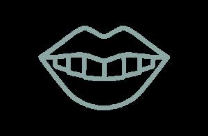 Ikon av tänder och läppar