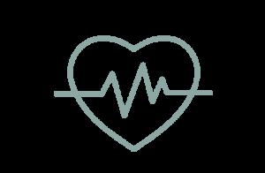 Ikon av hjärta med puls