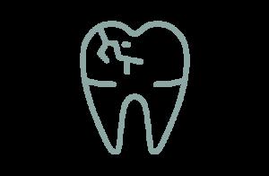 Ikon av sprucken tand