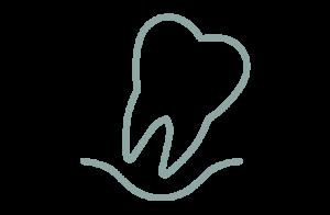 Ikon av böjd tand