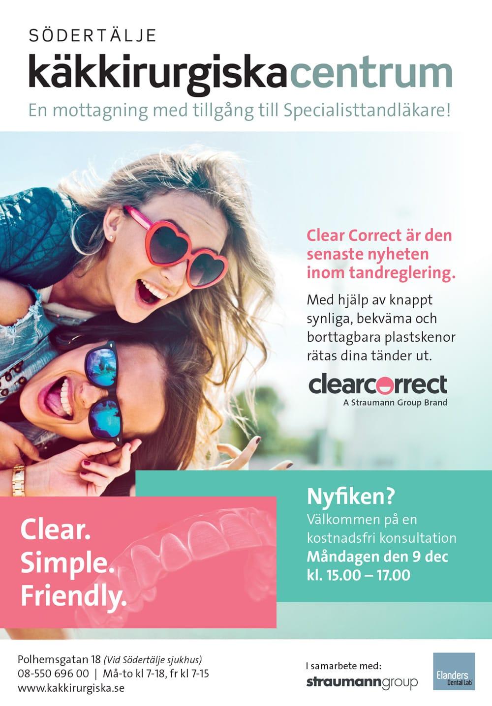 ClearCorrect kampanjbild av två kvinnor