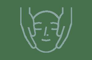 Ikon av ansikte med händer